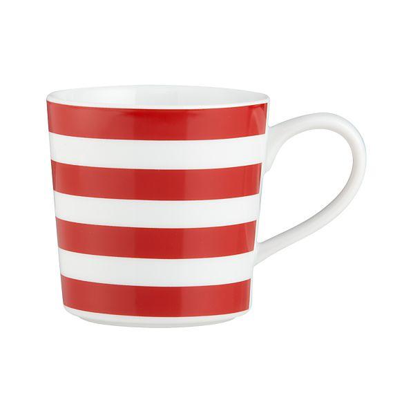 Graphic Red Stripes Mug