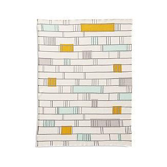 Mint Graphic Stroller Blanket