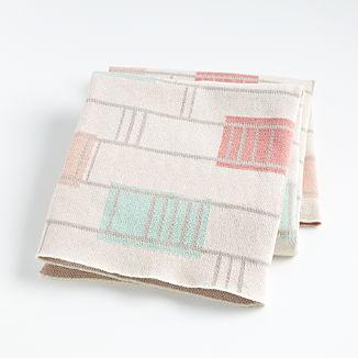 Pink Graphic Stroller Blanket
