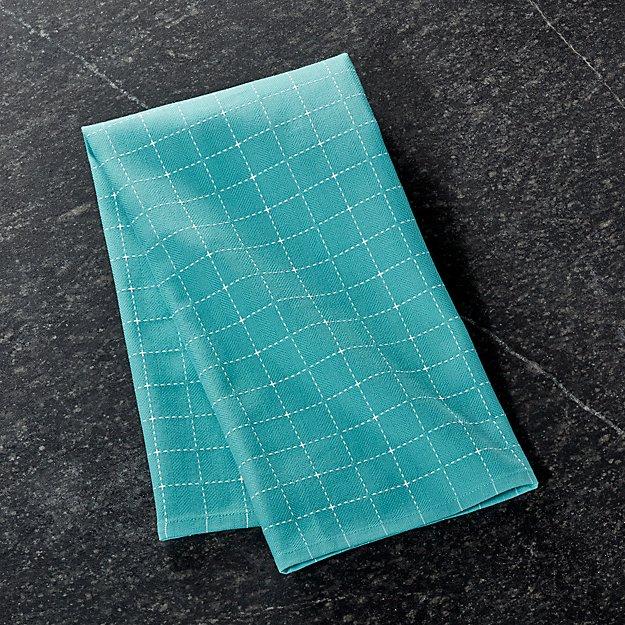 Aqua Graphico Dish Towel Reviews Crate And Barrel