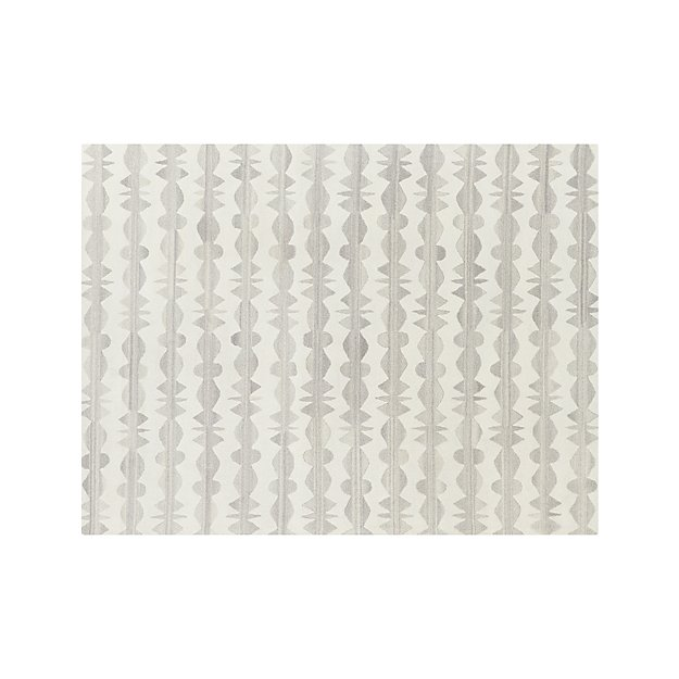 Graphite Neutral Striped Wool Rug 9 X12 Reviews Crate And Barrel