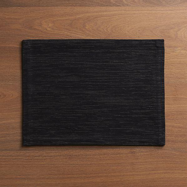 Grasscloth Black Placemat