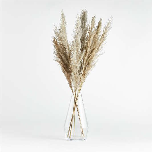 "Laurel Angled Clear Glass Vase 13.5"""