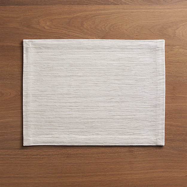 Grasscloth White Placemat Crate And Barrel