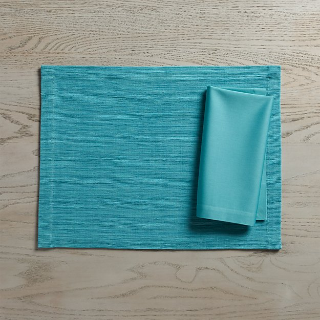Grasscloth Aqua Placemat In Placemats Reviews Crate