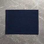 Grasscloth Navy Blue Cotton Placemat