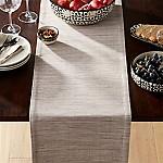 Grasscloth Dove Grey Table Runner