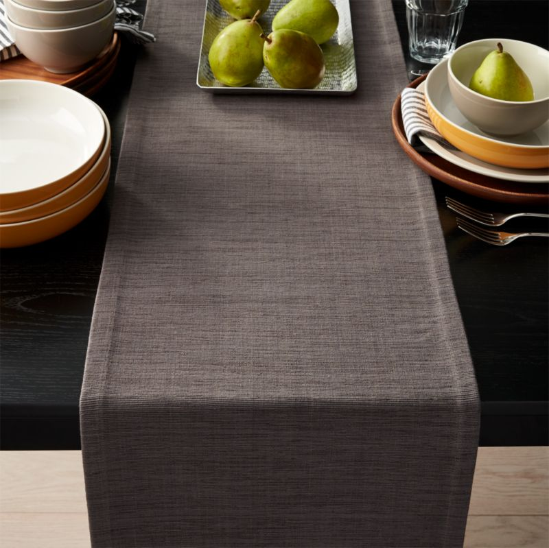 grasscloth 90 graphite grey table runner reviews crate and barrel. Black Bedroom Furniture Sets. Home Design Ideas