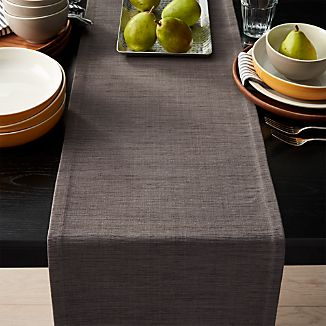 Grcloth 120 Graphite Grey Table Runner