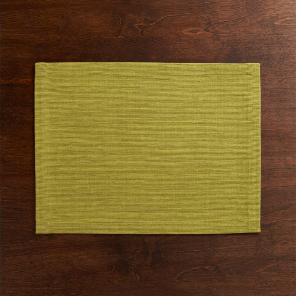 Grasscloth Green Placemat - Crate and Barrel