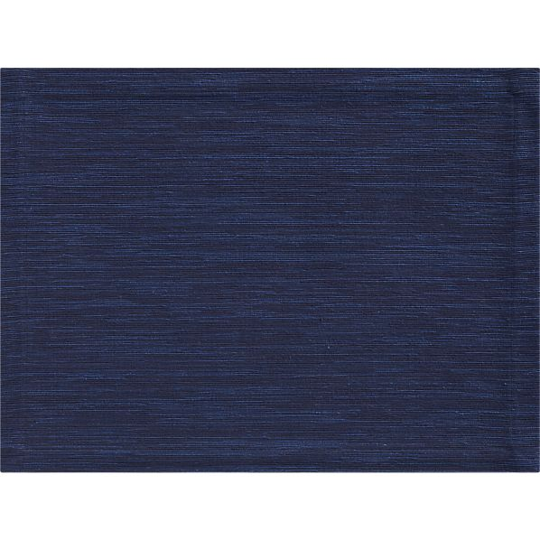 Grasscloth Ink Blue Placemat