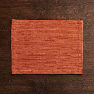 Grasscloth Orange Cloth Placemat