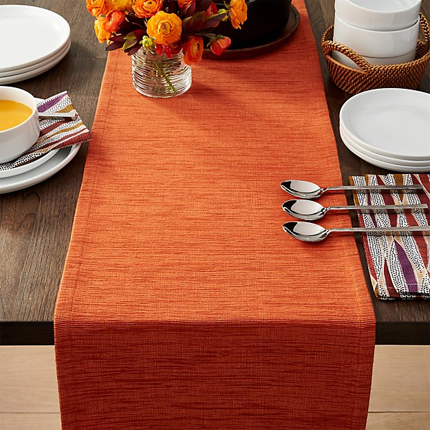 Grasscloth 90 Quot Orange Table Runner Reviews Crate And