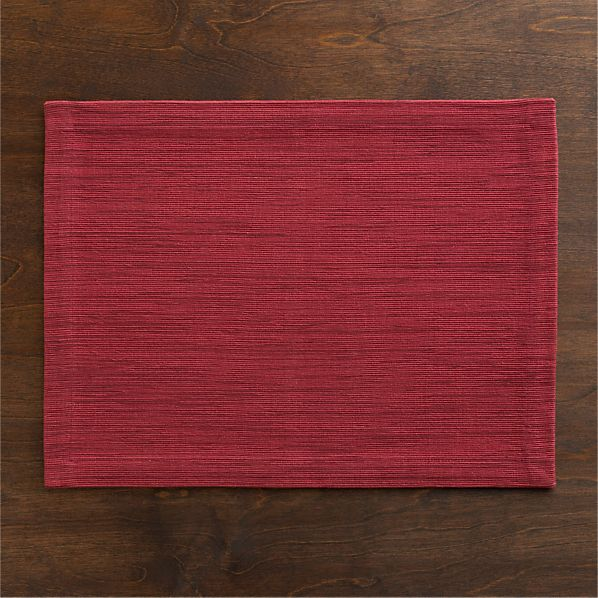 Grasscloth Placemat Berry