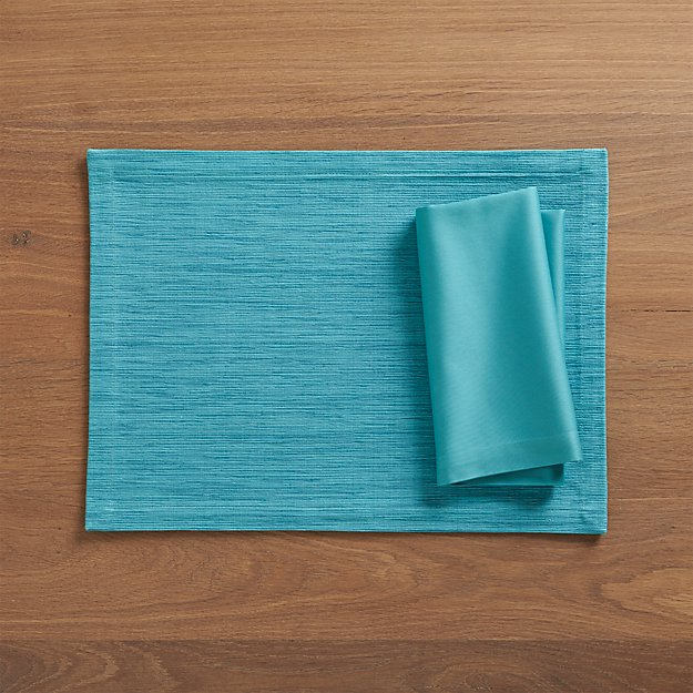 Fete Aqua Blue Cloth Napkin In Napkins Reviews Crate