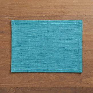 Grasscloth Aqua Placemat
