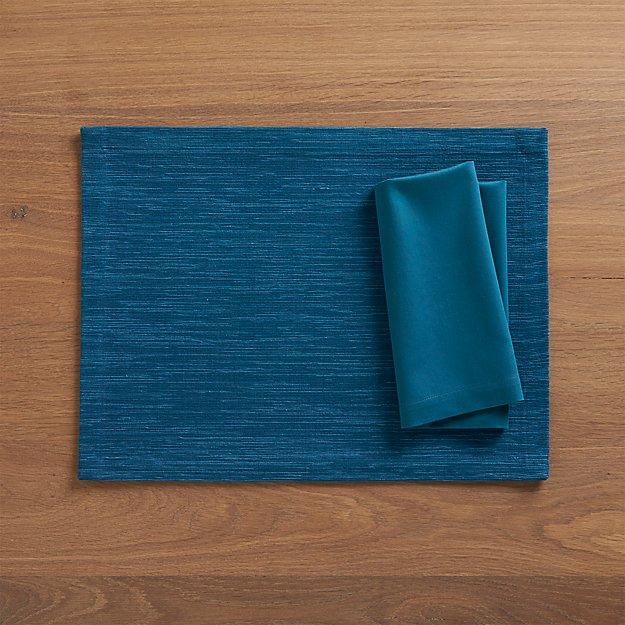 Grasscloth Corsair Placemat and Fete Corsair Cotton Napkin