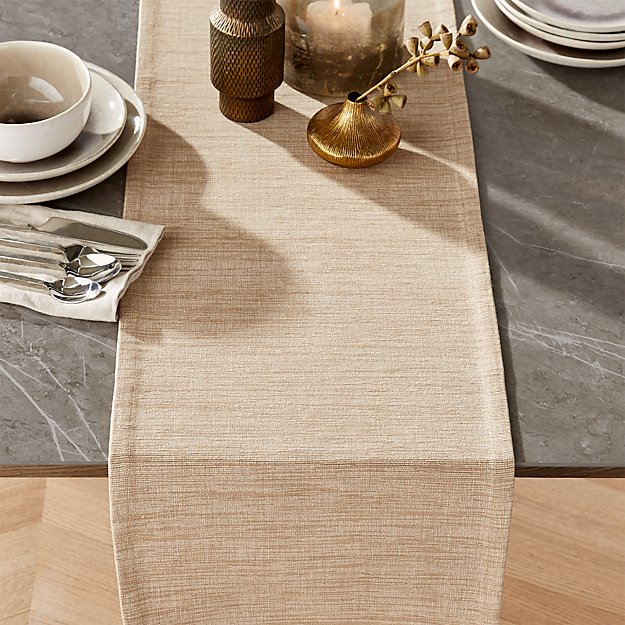 Grasscloth 90 Sand Cotton Table Runner Reviews Crate And Barrel
