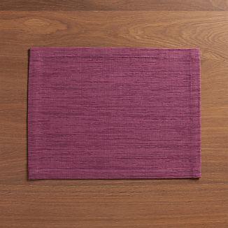 Grasscloth Violet Placemat