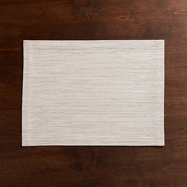 Grasscloth White Cotton Placemat - Image 1 of 9