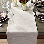 Grasscloth 90  White Table Runner