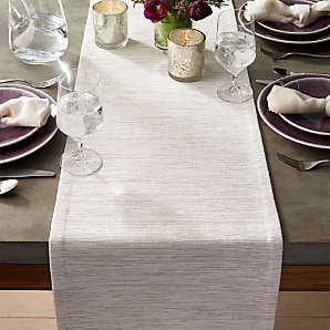 Table Runners Linen Cotton Polyester Crate And Barrel