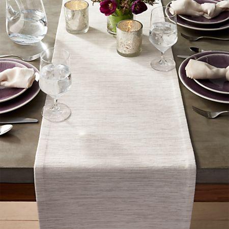 Grasscloth 90 White Table Runner