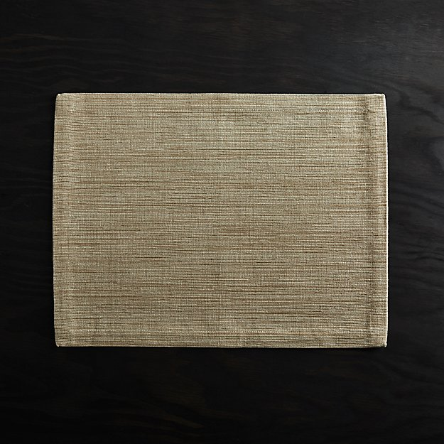 Grasscloth Sand Cotton Placemat - Image 1 of 3