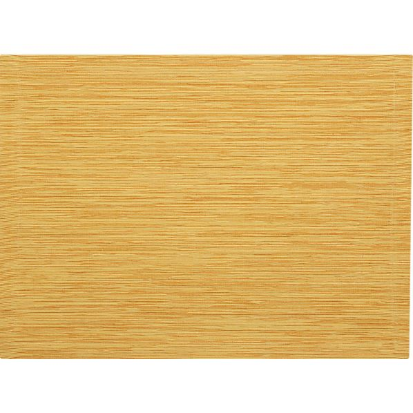 Grasscloth Yellow Placemat