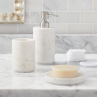 Marble Bath Accessories Crate And Barrel