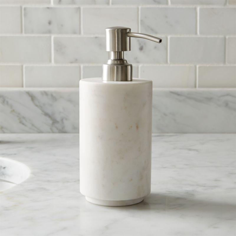 Graydon marble soap dispenser in bath accessories for Looking for bathroom accessories