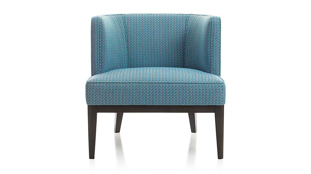 Grayson Blue Barrel Chair Reviews Crate And Barrel