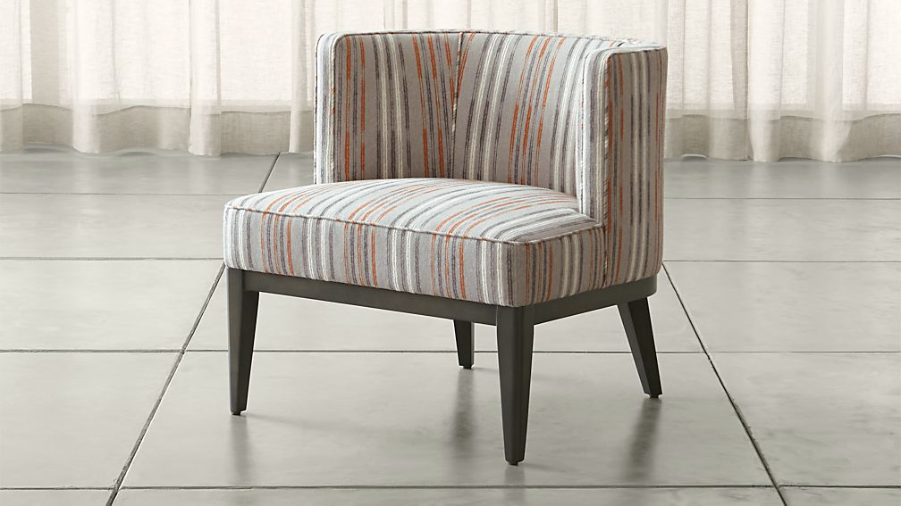 grayson upholstered barrel chair crate and barrel. Black Bedroom Furniture Sets. Home Design Ideas