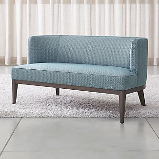 Modern couch Leather Grayson Settee Crate And Barrel Modern Couches Crate And Barrel