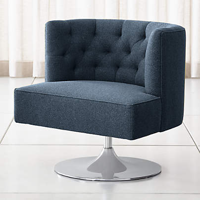 View testGrayson Tufted Swivel Chair