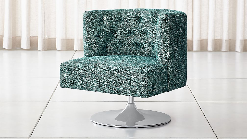 Grayson Tufted Swivel Chair - Image 1 of 9
