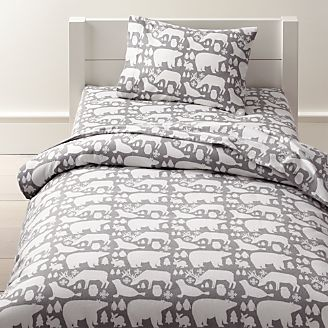 Organic Great White North Flannel Toddler Bedding