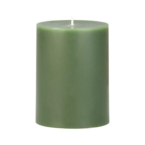 "Green 3""x4"" Pillar Candle"