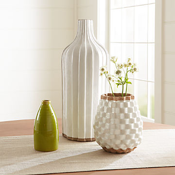 Decorative Vases: Glass and Ceramic   Crate and Barrel