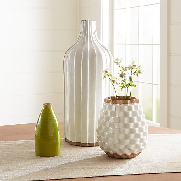 Green and Cream Vase Arrangement - Image 1 of 2