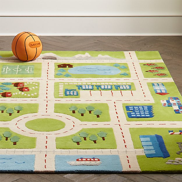 Kids Road Play Rug | Crate and Barrel