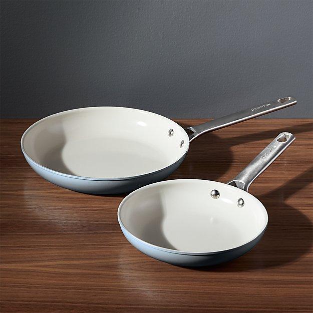 greenpan padova ceramic nonstick fry pan set crate and barrel. Black Bedroom Furniture Sets. Home Design Ideas