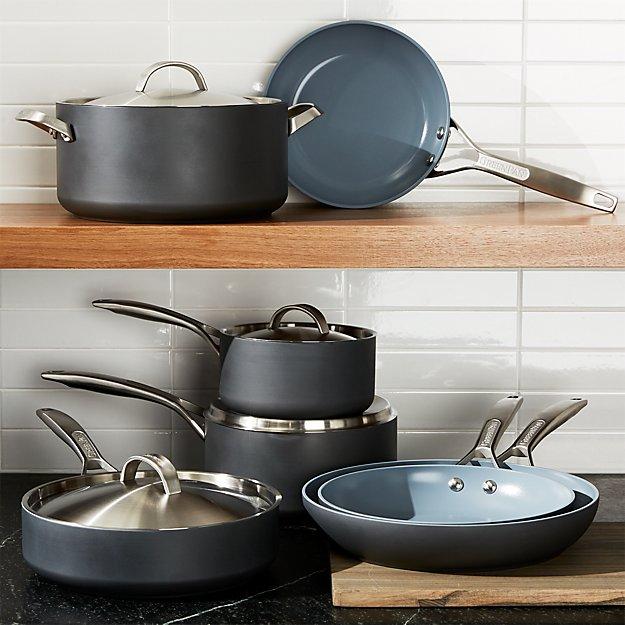 GreenPan ™ Paris Hard-Anodized Nonstick 11-Piece Cookware Set