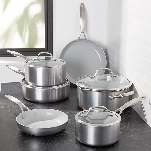 Greenpan Venice Pro 10 Piece Cookware Set Crate And Barrel