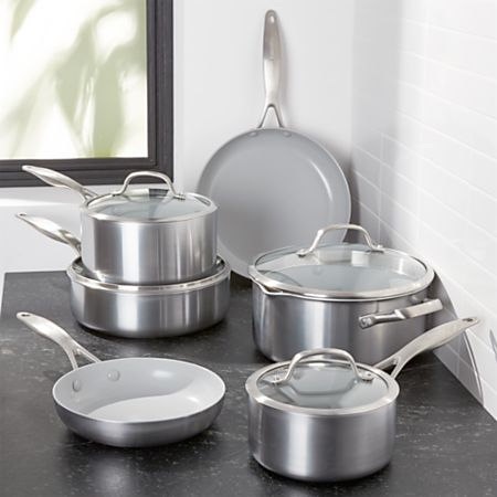 GreenPan Venice Pro 10-Piece Cookware Set + Reviews | Crate and Barrel