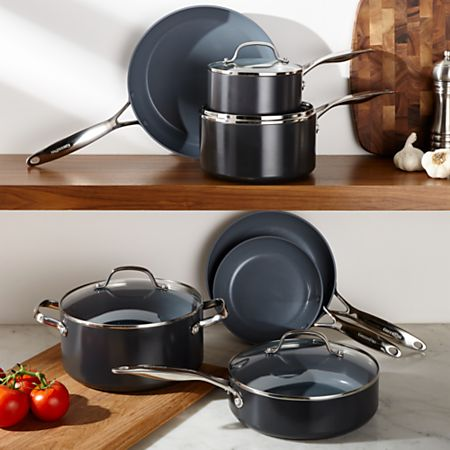 Green Pan Valencia Pro Nonstick 11-Piece Cookware Set + Reviews | Crate and  Barrel