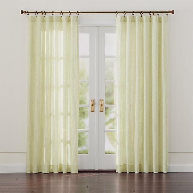 Greenwood Green Linen Curtains