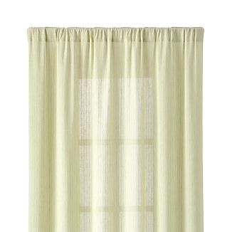 "Greenwood 50""x96"" Green Linen Curtain Panel"