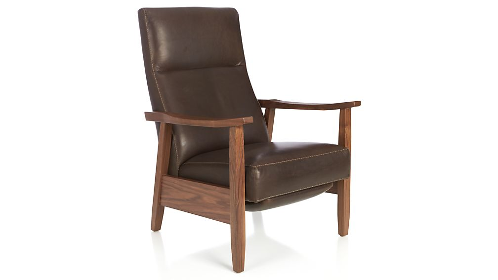 ... Greer Leather Recliner ...  sc 1 st  Crate and Barrel : leather chairs recliner - islam-shia.org