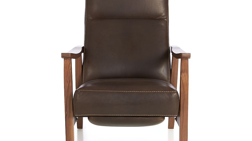 Leather Recliner With Wooden Arms Home Design Ideas
